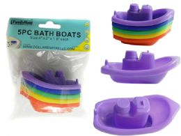 "96 Units of 5pc Bath Boats 4"" X2"" X1.9"" H - Baby Toys"