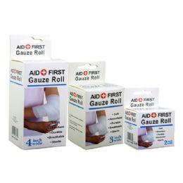 48 Units of Gauze Bandage Assorted Size - First Aid and Bandages