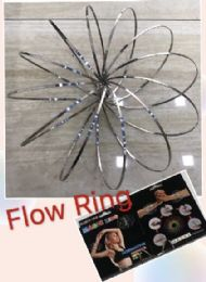 "20 Units of Flow Rings Kinetic Spring Toy-Silver 5.75"" Flat-Black Package - Educational Toys"