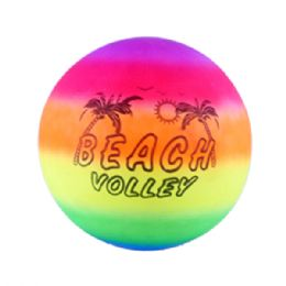 48 Units of Dodge Ball 9in Rainbow Printed hd - Summer Toys