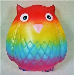 36 Units of Slow Rising Squishy Toy *rainbow Owl - Slime & Squishees