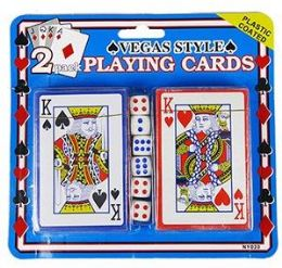 36 Units of 2 Pack Vegas Style Playing Cards & Dice - Playing Cards, Dice & Poker