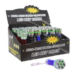 48 Units of 7 Led Flashlight Keychain - Flash Lights