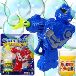 24 Units of Friction Powered Robot Carded Bubble Guns - Bubbles