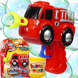48 Units of Friction Powered Fire Truck Bubble Guns - Cars, Planes, Trains & Bikes