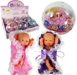 12 Units of Baby Toys Doll in a Globe - Dolls