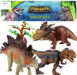 6 Units of 6 Piece Jumbo Dinosaur Sets - Animals & Reptiles