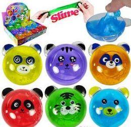 "72 Units of 3"" Animal Crystal Mud Slimes - Slime & Squishees"