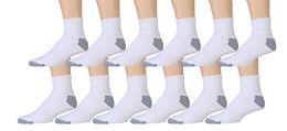EK MENS NO SHOW ANKLE WHITE/GRAY - Mens Ankle Sock