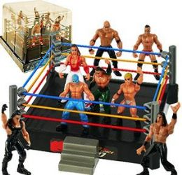 12 Units of 8 Piece Wrestlers And Arena - Toy Sets