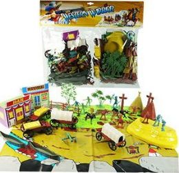 6 Units of 90 Piece Western Warrior Play Sets - Toy Sets