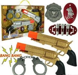 12 Units of 6 Piece Dueling Pistol Sets w/ Sound - Toy Weapons