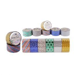 48 Units of Glitter Gift Tape 2in 10yds - Tape