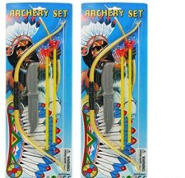 144 Units of Indian Archery Set W/Knife - Toy Weapons