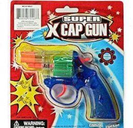48 Units of Translucent Super X Cap Guns Pistol - Toy Weapons