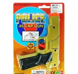 36 Units of Police .45 Cap Guns - Gold - Toy Weapons