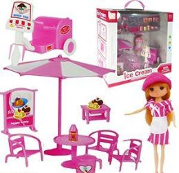 4 Units of 30 Piece Ice Cream Doll Sets - Dolls