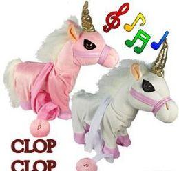 8 Units of Jumbo Walking Unicorns W/ Remote Leash & Sound - Magic & Joke Toys