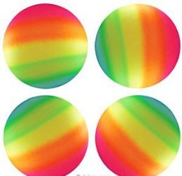 "48 Units of 6"" Inflatable Rainbow Bounce Balls - Balls"