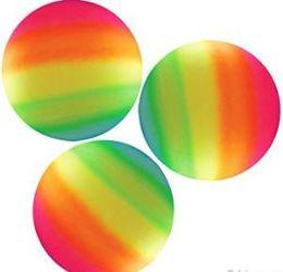 "36 Units of 9"" Inflatable Rainbow Bounce Balls - Balls"