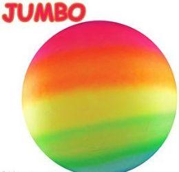 """50 Units of 17"""" Jumbo Inflatable Rainbow Bounce Balls - Balls"""