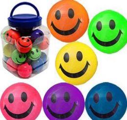 "12 Units of 2"" Smiley Face High Bounce Balls - Balls"