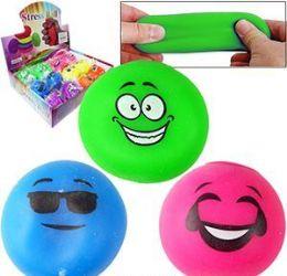 "288 Units of 2.5"" Emoji Stress Balls - Balls"