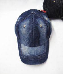 48 Units of Plain Denim Baseball Cap - Baseball Caps & Snap Backs