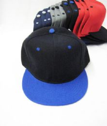 36 Units of Assorted Color Snackback Cap - Baseball Caps & Snap Backs