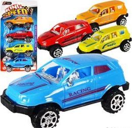 24 Units of 4 Piece Pull Back King of Speed SUV Sets - Cars, Planes, Trains & Bikes