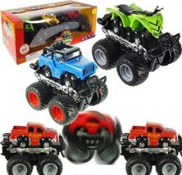 24 Units of 3 Piece 4WD Friction Powered Stunt Car Sets - Cars, Planes, Trains & Bikes