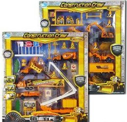 36 Units of 17 Piece Construction Crew Play Sets - Toy Sets