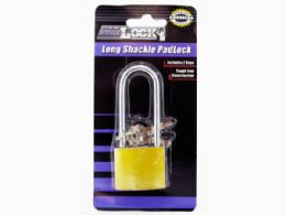 72 Units of Iron Long Shackle Padlock With 3 Keys - Padlocks and Combination Locks