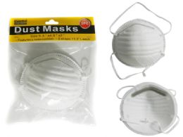 "144 Units of DUST MASKS 2PC 5.25"" W X 2"" - Hardware Shop Equipment"