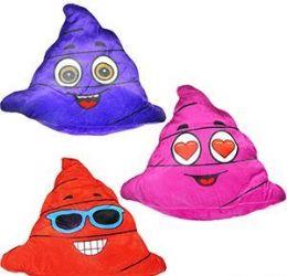 "96 Units of 14"" Colorful Plush Poo Emojis - Plush Toys"