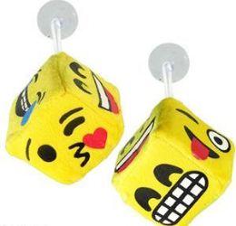 "288 Units of 2.5"" Plush Emoji Dice Window Hangers - Plush Toys"