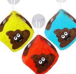 "48 Units of 2.5"" Plush Emoji Poo Dice Window Hangers - Plush Toys"