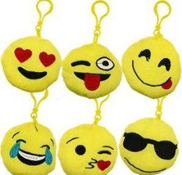 "48 Units of 3.5"" Plush Emoji Zipper Pull Keychains - Plush Toys"