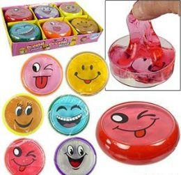 """288 Units of 3"""" Emoji Crystal Mud Slime - Slime & Squishees"""