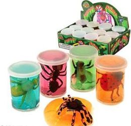 96 Units of Insect & Creature Slimes Assortments - Slime & Squishees