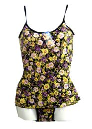 36 Units of 2 Piece Rose Tanks Set/ Size & Color Assorted - Womens Bras And Bra Sets