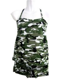 36 Units of 2 Piece Camo Tanks Set/ Size Assorted - Womens Bras And Bra Sets