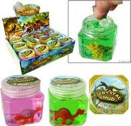 48 Units of Dinosaur Crystal Mud Slimes - Slime & Squishees