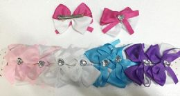 50 Units of Girls Striped Assorted Colored Hair Clip - Hair Accessories