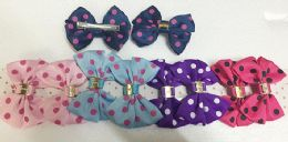 50 Units of Girls Polka Dot Assorted Colored Hair Clip - Hair Accessories