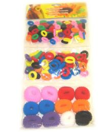 50 Units of Girls Pony Tail Holders Assorted Color - PonyTail Holders