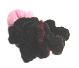 144 Units of Hair Band Color Assorted - Hair Scrunchies