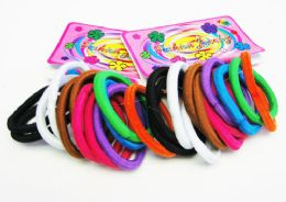 72 Units of 12 Pack Hair Scrunchies - PonyTail Holders
