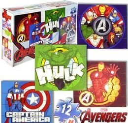 24 Units of Marvel's Avengers Jigsaw Puzzles - 4 Pack - Puzzles