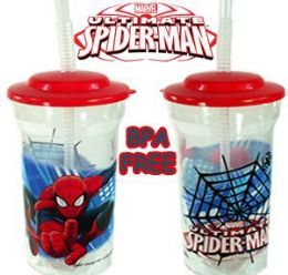 36 Units of Spiderman Travel Cups - Plastic Drinkware
